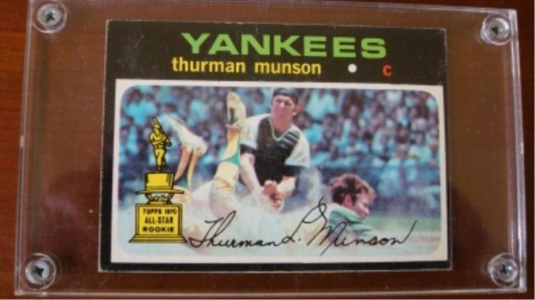 1971 TOPPS Thurman Munson Usual Centering