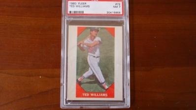 1960 Fleer Ted Williams Card PSA 7
