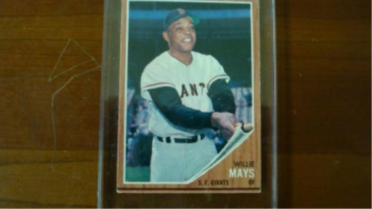 1962 TOPPS Willie Mays Card Ex+