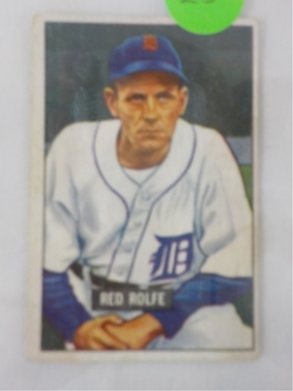 1951 Bowman High #319 Red Rolfe Card