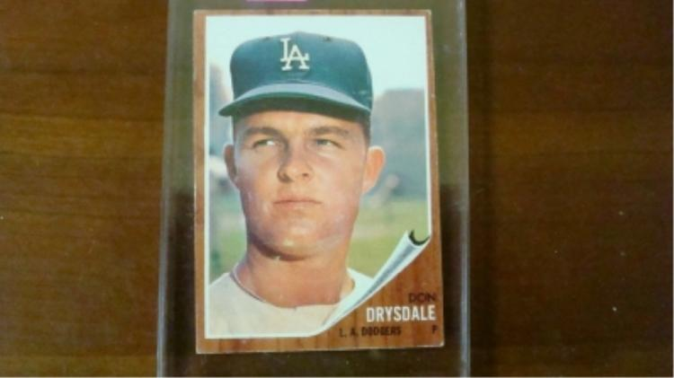 1962 TOPPS Don Drysdale Card Ex+-EX Mint
