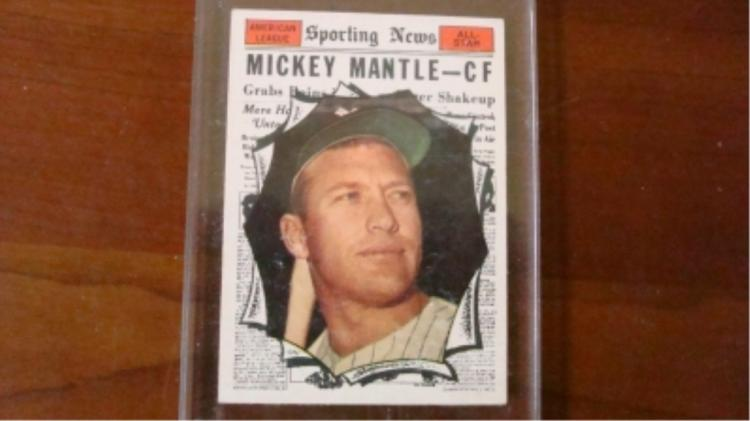1961 TOPPS 578 Mickey Mantle All-Star Card
