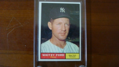 1961 TOPPS Whitey Ford Card Sharp Corners
