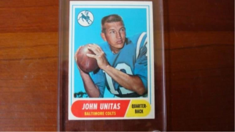 1968 TOPPS John Unitas Football Card