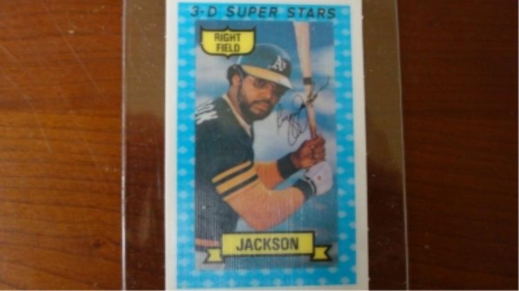 Kellogg's 3D Reggie Jackson Card 1973