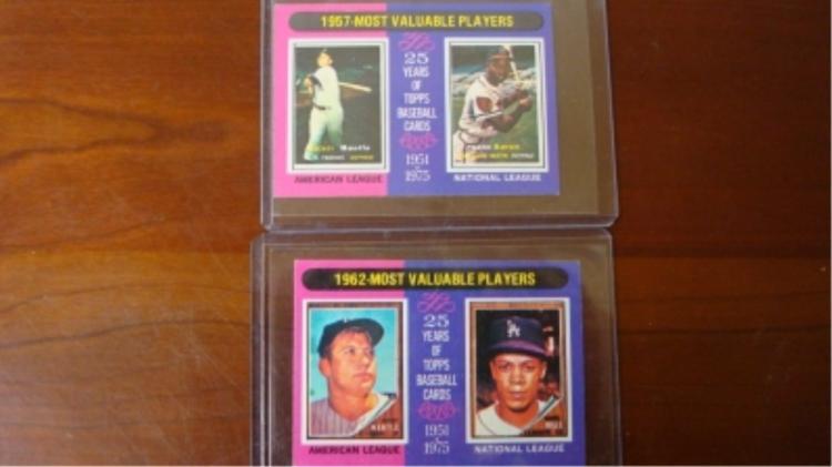1975 TOPPS Mini's Baseball Cards
