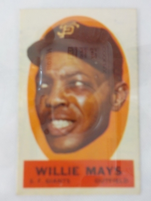 1963 TOPPS Peel Off Card Willie Mays