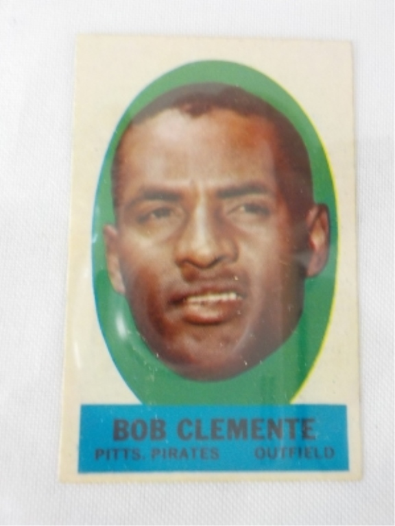 1963 TOPPS Peel Off Card Bob Clements