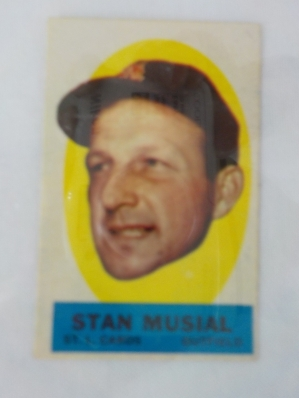 1963 TOPPS Peel Of Card Stan Musial