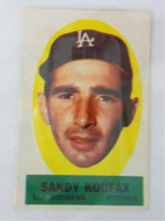 1963 TOPPS Peel Off Card Sandy Koufax