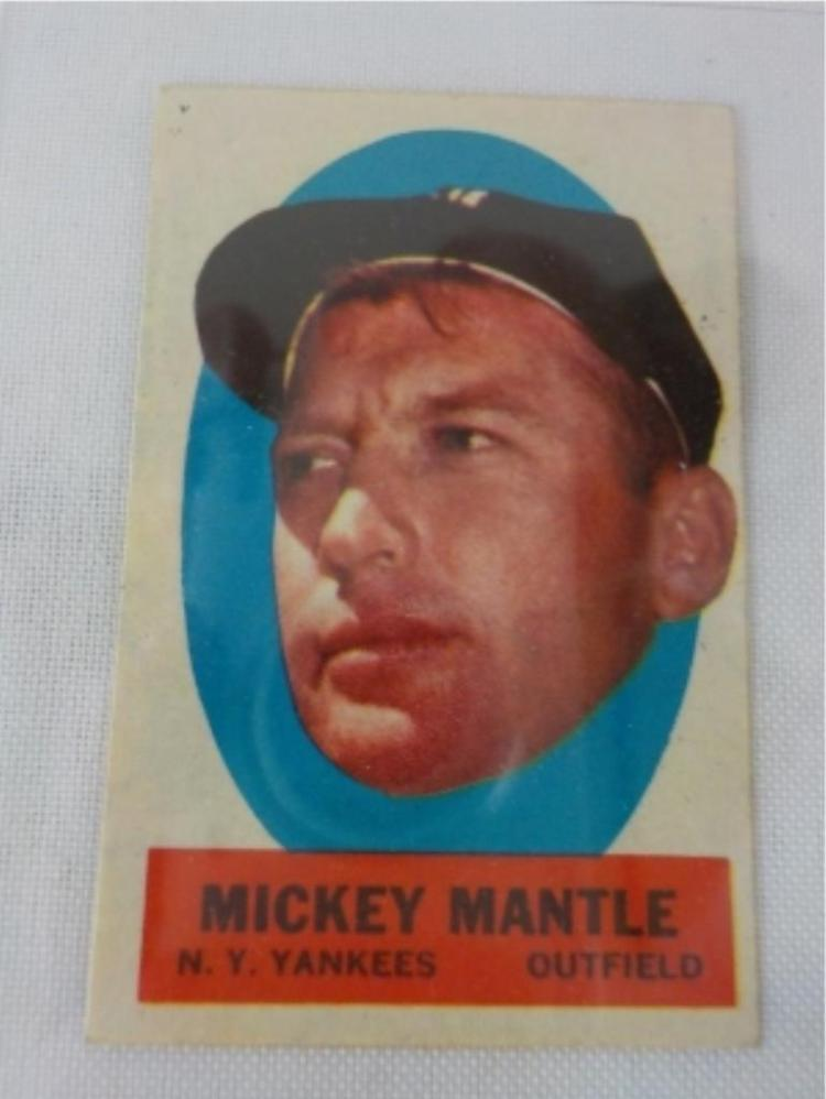 Early 1960's TOPPS Inserts Peel Off Mantle