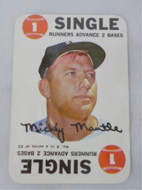 1968 TOPPS Insert Mickey Mantle Card