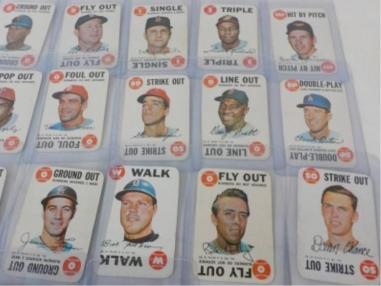 1968 TOPPS Inserts (20) Baseball Cards