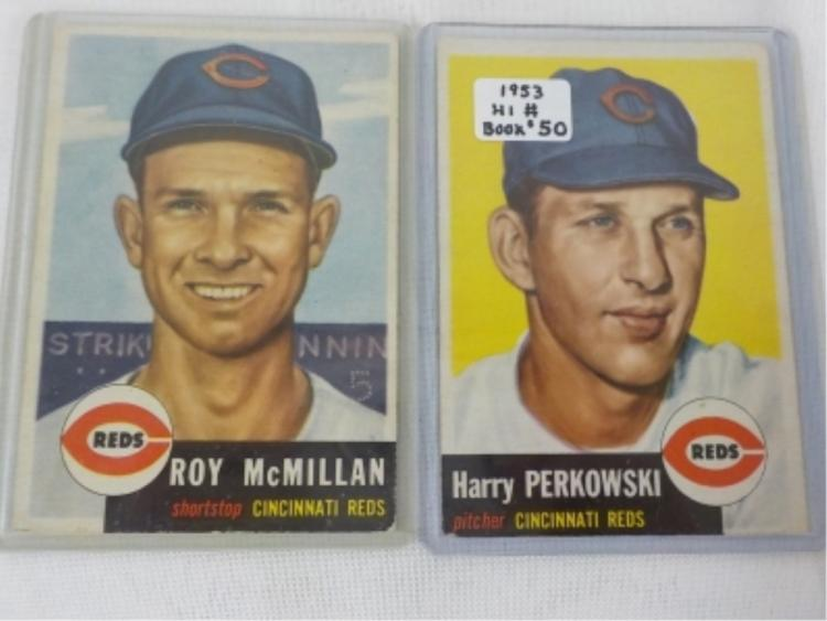 1953 TOPPS High # Baseball Cards 259 & 236