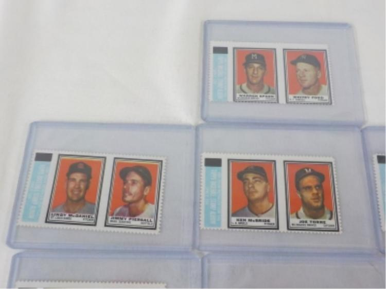 1962 TOPPS Insert Complete Block Stamps