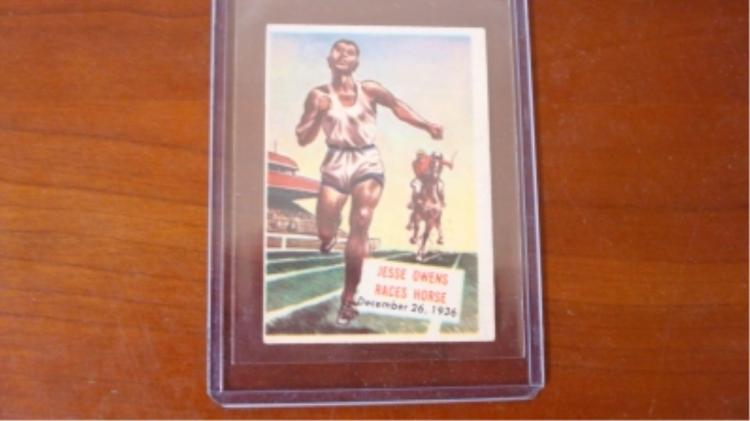 c. 1952 Scoops #128 Jesse Owens Card EX-Mint