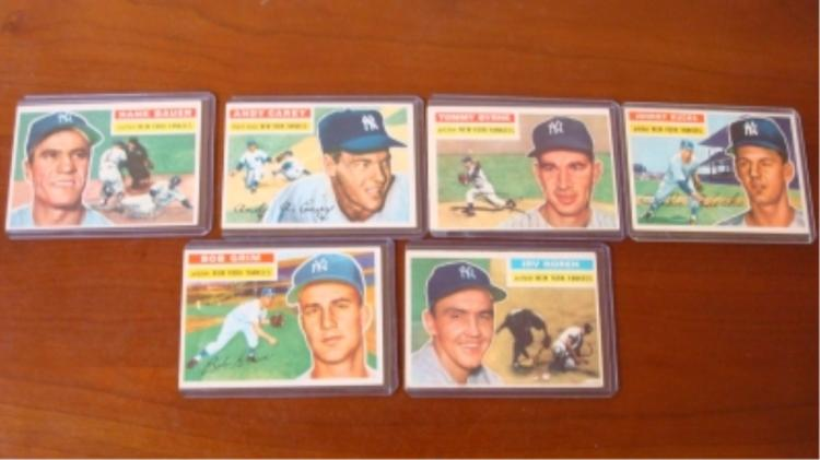 1956 TOPPS 6 Yankees Cards EX+ & Better