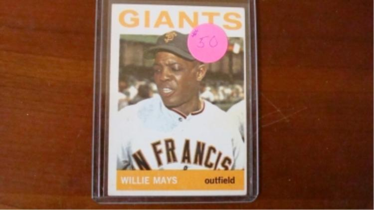 1964 TOPPS Willie Mays Card Ex+