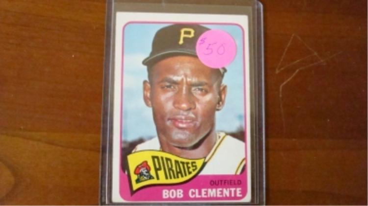 1965 TOPPS Bob Clemente Card VG-EX