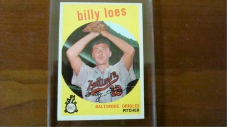 1959 TOPPS Rare No-Option Statement Billy Loes