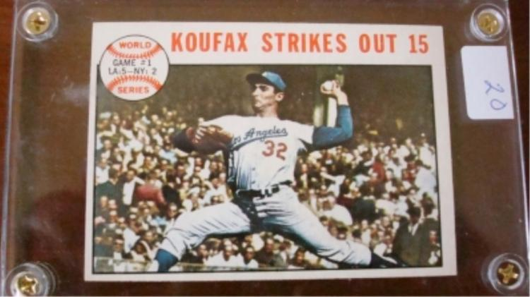 1964 TOPPS Koufax World Series Game 1 Card