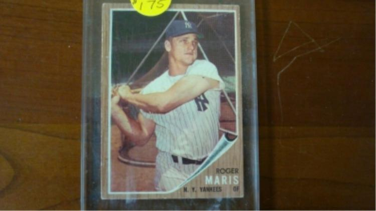 1962 TOPPS Roger Maris Card Ex