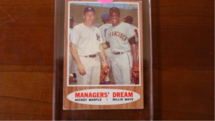 1962 TOPPS Manager's Dream Mantle & Mays