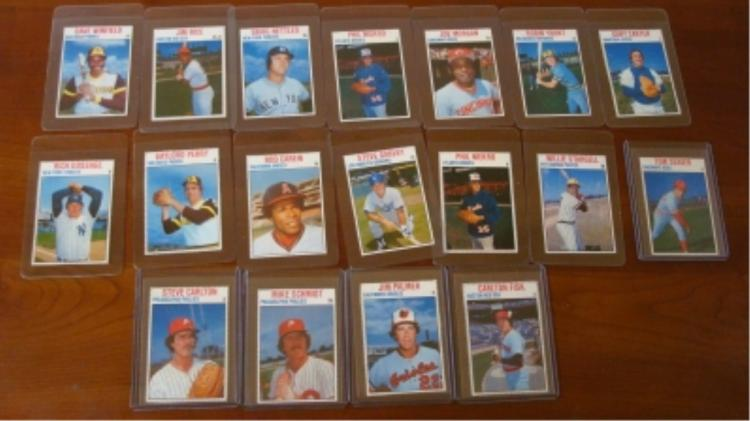 1979 Hostess (18) All Hall of Famers Cards