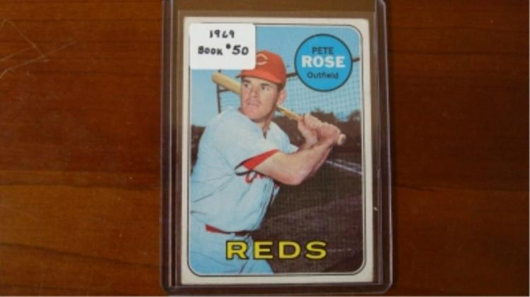 1969 TOPPs Pete Rose Card VG-EX
