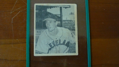 1948 Bowman Bo Feller Card Wrinkle/Crease