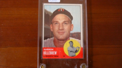 1963 TOPPS Harmon Killebrew Card XM
