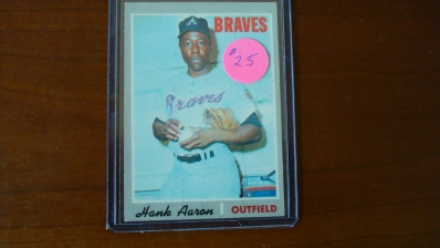 1970 TOPPS Hank Aaron Card EX Condition