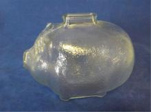 Anchor Hocking Clear Glass PIG Coin Bank 7