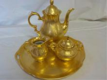 Golden Crown Western Germany 22k Gold Tea Pot Set