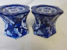 Made in China Blue & White Figure Stands