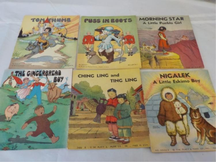 6 Platt & Munk Linen Children's Books