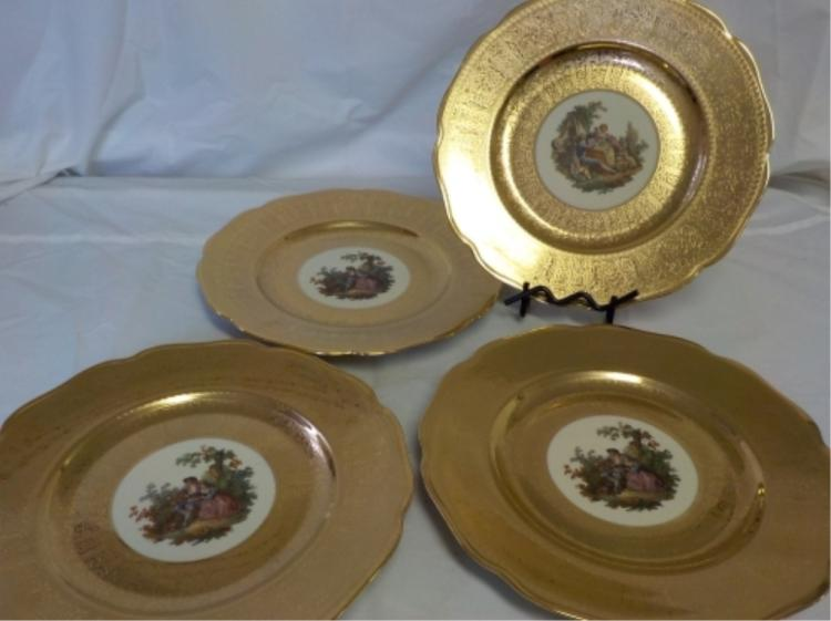 4 Royal China 22k Gold Decoration Plates