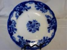 Roseville England Flow Blue Plate 9