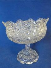 Cut Glass Clear Compote Bowl