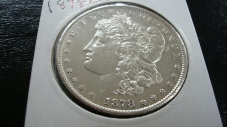 1878-CC Morgan Silver Dollar UNC