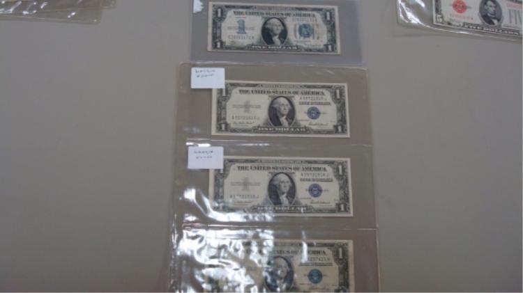 (4) 1$ Silver Certificates