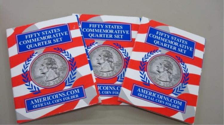3 Complete State Quarter Sets