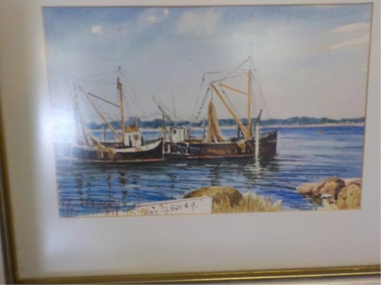 3 Edward H. Simpson Ocean Scene Prints Framed