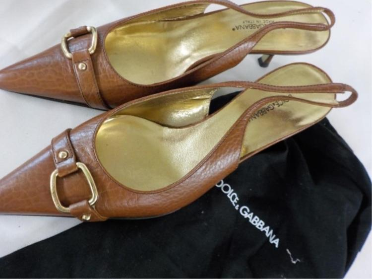 DOLCE GABBANA Brown Leather Shoes 37