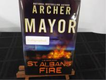 St. Alban's Fire ~ Archer Mayor ~ Signed 2005