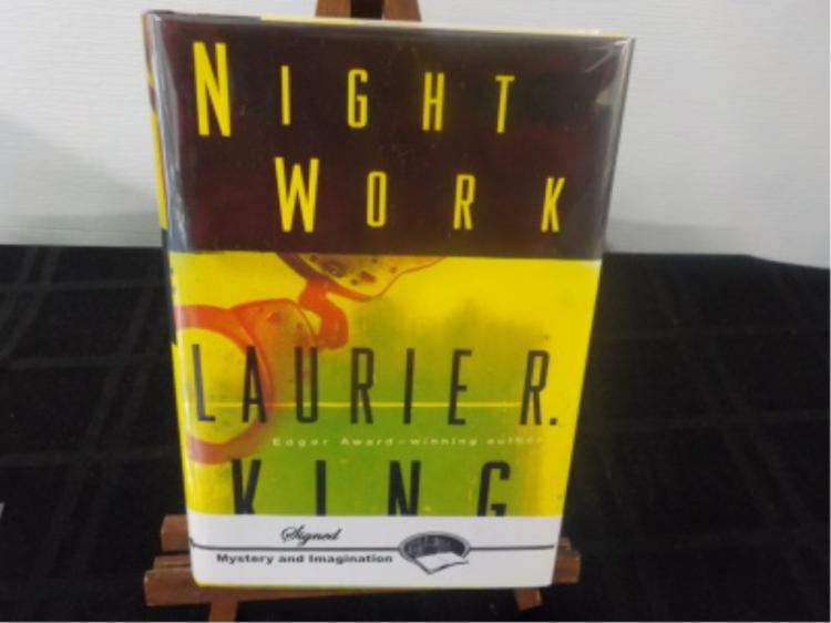 Night Work ~ Laurie R King ~ Signed 2000