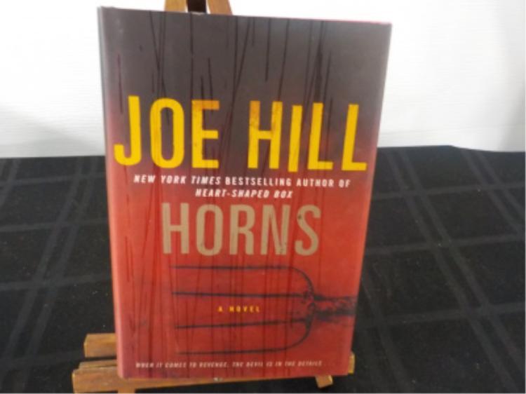 Horns ~ Joe Hill ~ Signed & Sketched ~ 1st