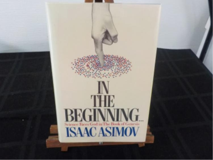 In The Beginning ~ Issac Asimov ~ Signed 1st 1981
