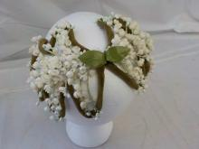 1950's Green & White Lilly of the Valley Hat