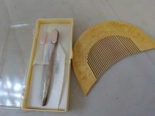 Sterling Silver Vintage Babies Tooth Brush .565ozt